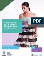 impresion 3d cadena de valor textil