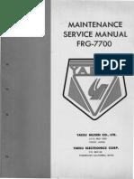 FRG-7700 Manual de Servicio-Receptor Yaesu.pdf