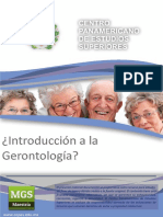 INTRODUCCION A LA GERONTOLOGIA