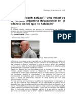 Philippe Joseph Salazar - Una mitad de la historia argentina desapareció en el silencio de los que no hablarán