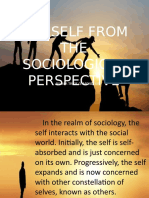 The Self from Sociological Perspective