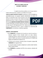 3.- MINUTA DE COMPRA VENTA DE ACCIONES Y DERECHOS