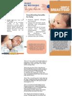 brochure breastfeeding