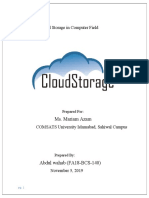 CLOUD STORAGE (complete research)
