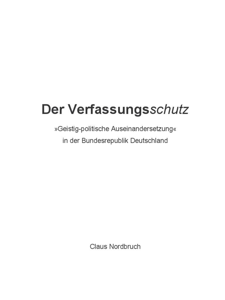 Nordbruch - Der Verfassungsschutz