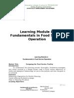 Module in Fundamental in FoodService Operation