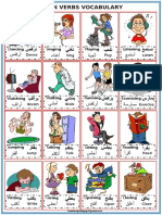 Arabic and English Action Verbs picture cards