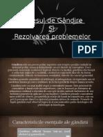 Gândirea_ Rezolvarea de Probleme