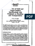 A Review of Solid and Liquid Sulphur Specification With Emphasis on Handling and Transportation