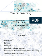 Clinical Teachingx