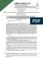 Decreto de Salud Con Precio Máximo Del Test de Coronavirus