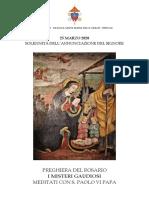 Preghiera Del S. Rosario 25 Marzo 2020