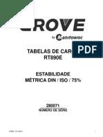 GROVE RT 890E LOAD CHART75%