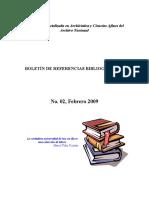 BOLETIN DE REFERENCIAS BIBLIOGRAFICAS