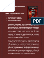 The Warhammer 40K Starters Guide Made by Joshua Heaney