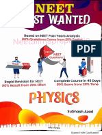 Unit & Measurements, Motion in staright Line, NUCLEI, Fluids Mechanic Most Wanted