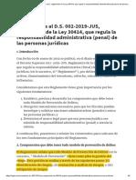 Comentarios al D.S. 002-2019-JUS, reglamento de la Ley 30414, que regula la responsabilidad administrativa (penal) de las personas jurídicas _ Legis.pe.pdf