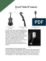 The Stradivari Viola d'amore