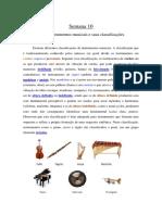 .Sobre instrumentos musicais e suas classificações