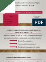 Gestão do serviço de nutrição e dietética nas unidades sanitárias PROCESSO DE PLANIFICAÇÃO DO SERVIÇO DIETÉTICO