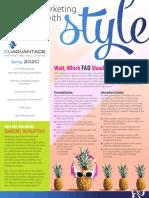 CUAdvantage Newsletter - Sprint 2020