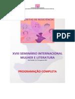 Programação completa do Mulher e Literatura 03 08