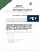 Comunicado de Agemed sobre la cloroquina