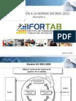 PRESENTACIÓN IFORTAB INTRODUCCIÓN ISO 9001 2015