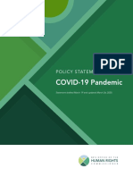 BCOHRC – COVID-19 Pandemic Policy Statement