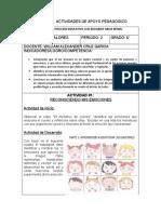 ACTIVIDADES DE APOYO PEDAGOGICO ÉTICA Y VALORES  6° #1