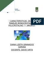 CARACTERISTICAS  DE  LOS  PANELES MONOCRISTALINO