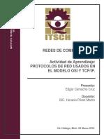 Resumen de los Protocolos de red en los modelos OSI y TCP-IP