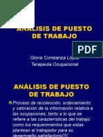 ANÁLISIS PUESTO DE TRABAJO