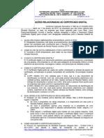 Principais Duvidas Sobre o Certificado Digital - 2010 - Att Todos
