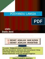 Presentasi Posyandu Lansia Pkm