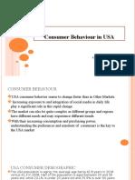Consumer Behaviour in USA