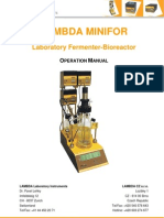 LAMBDA-MINIFOR-laboratory-fermenter-operation-manual