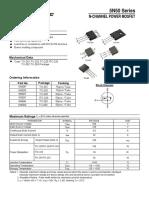 Mosfet 5N50T datasheet