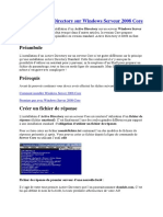 Installer Active Directory sur Windows Serveur 2008 Core