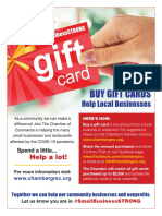 The Chamber of Commerce for Greater Montgomery County Buy a Gift Card Flyer