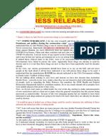 20200326-PRESS RELEASE Mr G. H. Schorel-Hlavka O.W.B. ISSUE – Re Anti Novel Coronavirus Drugs