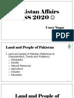 Pakistan Affairs - Land and People of Pakistan.pdf