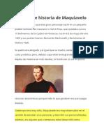 Biografía e historia de Maquiavelo