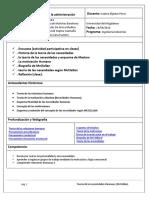 1. Teoría de las organizaciones y la administración