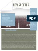 physical education newletter weebly
