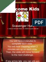 Scavenger Hunt Game for Kids
