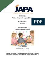 TAREA 2 PSICOLOGIA EDUCATIVA I