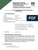 PLAN DE TRABAJO DE LA COMISION CALIDAD INNOVACION Y APRENDIZAJES 10003