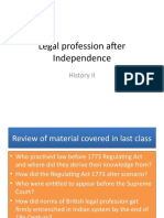 Week-13 Legal Profession After Independence