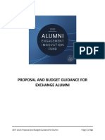 AEIF 2020 - Proposal and Budget Information for Exchange Alumni